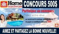 Concours Certificats-cadeau de 500$ Home Hardware Limoges