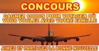 Concours Bon de voyage de 10000 $