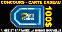 Carte cadeau Best Buy de 100$