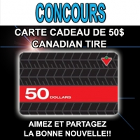 Une carte Canadian Tire de 50$